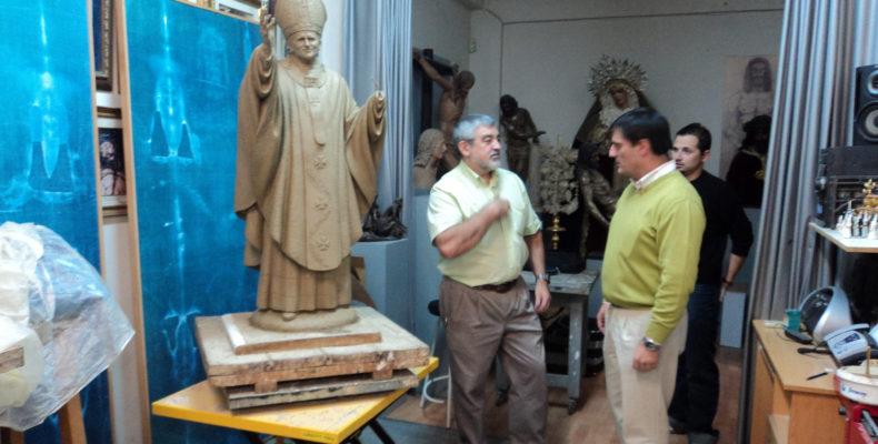JUAN PABLO II POR JUAN MANUEL MIÑARRO - Escultura WOODART